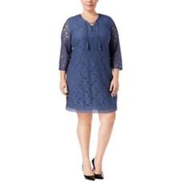 Style & Co Plus Size Lace Peasant Dress NWT